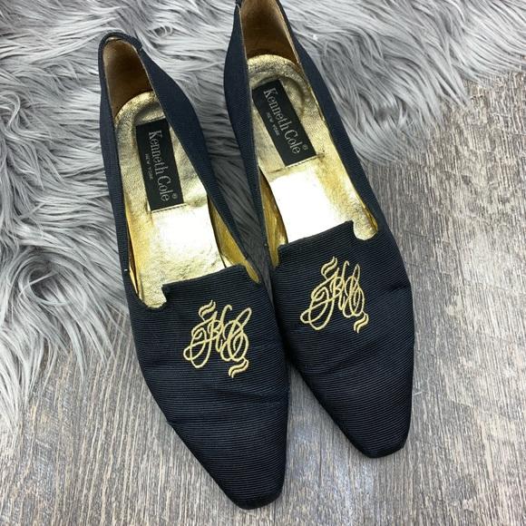 VTG Kenneth Cole Preppy Embroidered Loafers